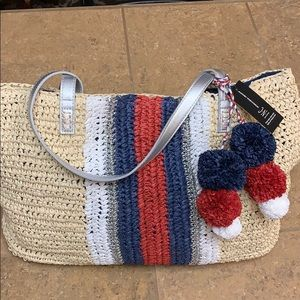 NWT INC Natural Straw Beach Tote